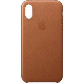 【Apple(アップル)・純正品】iPhone X/XS レザーケース (Leather Case)Saddle Brownブラウン<リニューアルOPENキャンペンセール>4549995039191
