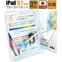 【スーパーSALE最大半額+先着15%OFFクーポン】iPad 9.7 フィルム ブルーライト 低減 ガラスフィルム iPad Pro Air Air2 9.7 フィルム ブルーライトカット 液晶保護フィルム 日本製 ネコポス
