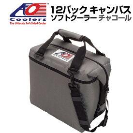 AO Coolers AOクーラーズ 12パック キャンバス ソフトクーラー PACK CANVAS チャコール 896290001373 バッグ 保冷バッグ 軽量 保冷 保温 アウトドア キャンプ 並行輸入 送料無料