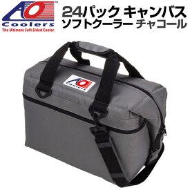 AO Coolers AOクーラーズー 24パック キャンバス ソフトクーラー PACK CANVAS チャコール 896290001663 バッグ 保冷バッグ 軽量 保冷 保温 アウトドア キャンプ 並行輸入 送料無料