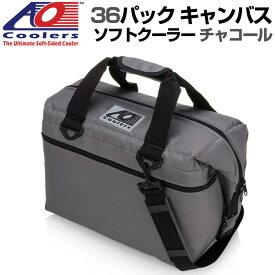 AO Coolers AOクーラーズ 36パック キャンバス ソフトクーラー PACK CANVAS チャコール 896290001946 バッグ 保冷バッグ 軽量 保冷 保温 アウトドア キャンプ 並行輸入 送料無料