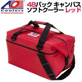 AO Coolers AOクーラーズ 48パック キャンバス ソフトクーラー PACK CANVAS レッド 896290001991 バッグ 保冷バッグ 軽量 保冷 保温 アウトドア キャンプ 並行輸入 送料無料