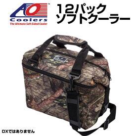 AO Coolers 12 Pack Mossy Oak Cooler AOクーラーズバッグ 保冷バッグ カモフラ カモフラージュ柄 ソフトクーラー 12パック 軽量 保冷 保温 アウトドア キャンプ モッシーオーク 並行輸入 送料無料