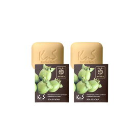 【医薬部外品】柿のさち KnS 薬用柿渋石鹸 110g 加齢臭・体臭対策用 消臭・殺菌 x2個セット