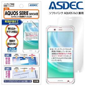 AQUOS SERIE SHV34/ AQUOS Xx3 506SH / スター・ウォーズモバイル フィルム ノングレア液晶保護フィルム3 防指紋 反射防止 ギラつき防止 気泡消失 ASDEC アスデック NGB-SHV34