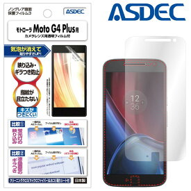 モトローラ Moto G4 Plus フィルム ノングレア液晶保護フィルム3 防指紋 反射防止 ギラつき防止 気泡消失ASDEC アスデック NGB-MMG4P