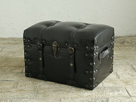 スツール 椅子 イス いす チェア トランク 雑貨 収納 宝箱 アンティーク レザー 合皮 革 皮 デザイン 北欧 インテリア カフェ 新築スツール トランクチェスト S※送料無料対象外です※0034-ch-IW-876-S