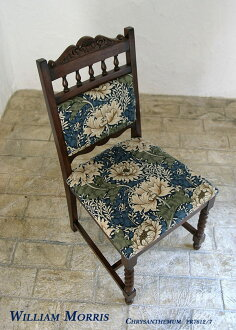 餐椅 William Morris 菊花 crisantimum 椅子椅子椅子椅子椅子木材天然餐飲設計軟墊椅子室內傢俱豪華酒店工作室 MT JG708-chr 535384