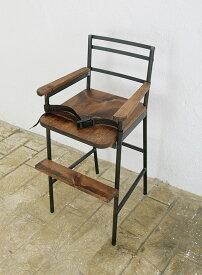 椅子 イス いす チェア チェアー 木製 アンティーク調 ダイニング デザイン アイアンチェア チャイルドチェア 子供いす ハイチェアチャイルドチェア ラスティックアイアン 子供いす ハイチェア0220-ch-RI-203