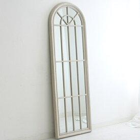Blanc 窓型ミラーロング アンティークグレー色  0124-mr-20033133