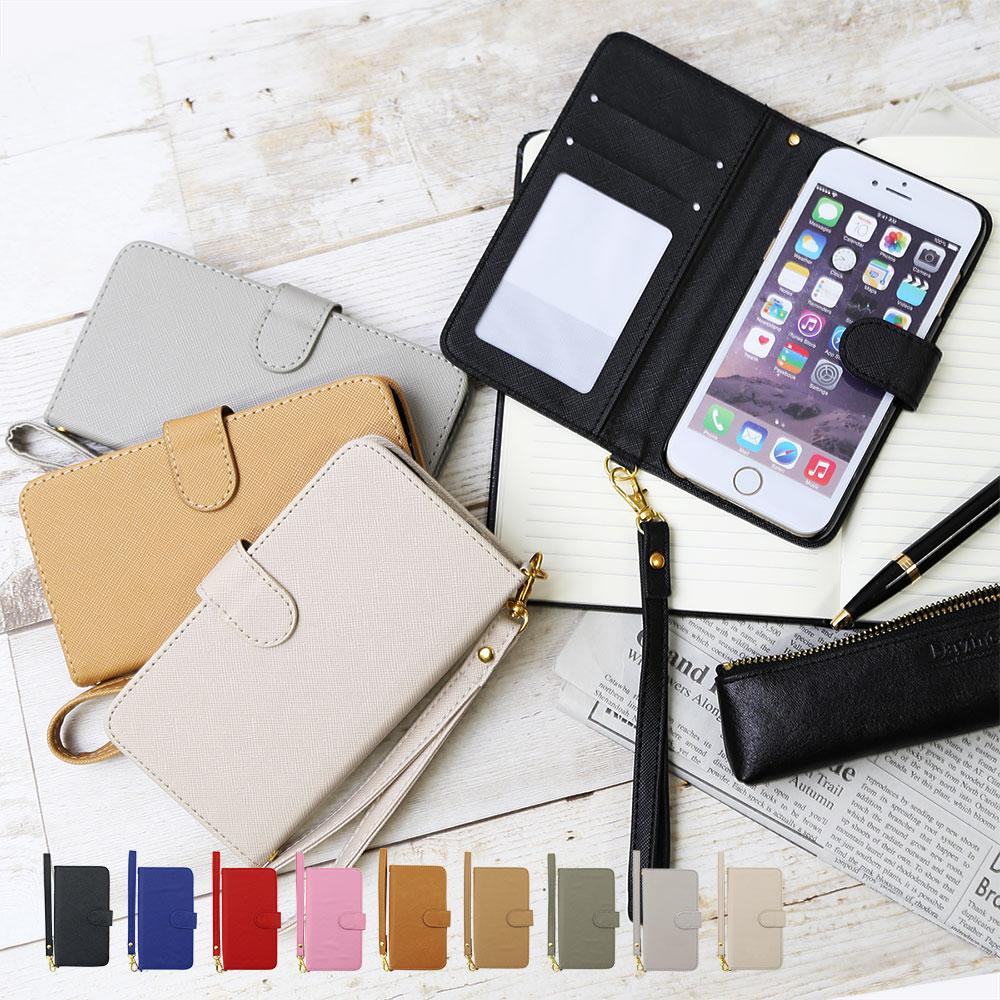 スマホケース 手帳型 全機種対応 iPhone x ケース 手帳型 マグネット iPhone8 ケース 手帳型 かわいい iphone8plus ケース 手帳型 ストラップ iphone7ケース iphone6s ケース 手帳型 Xperia XZ1 XZs AQUOS R compact isai V30+ Galaxy S8+ DIGNO おしゃれ スライド 鏡 別売