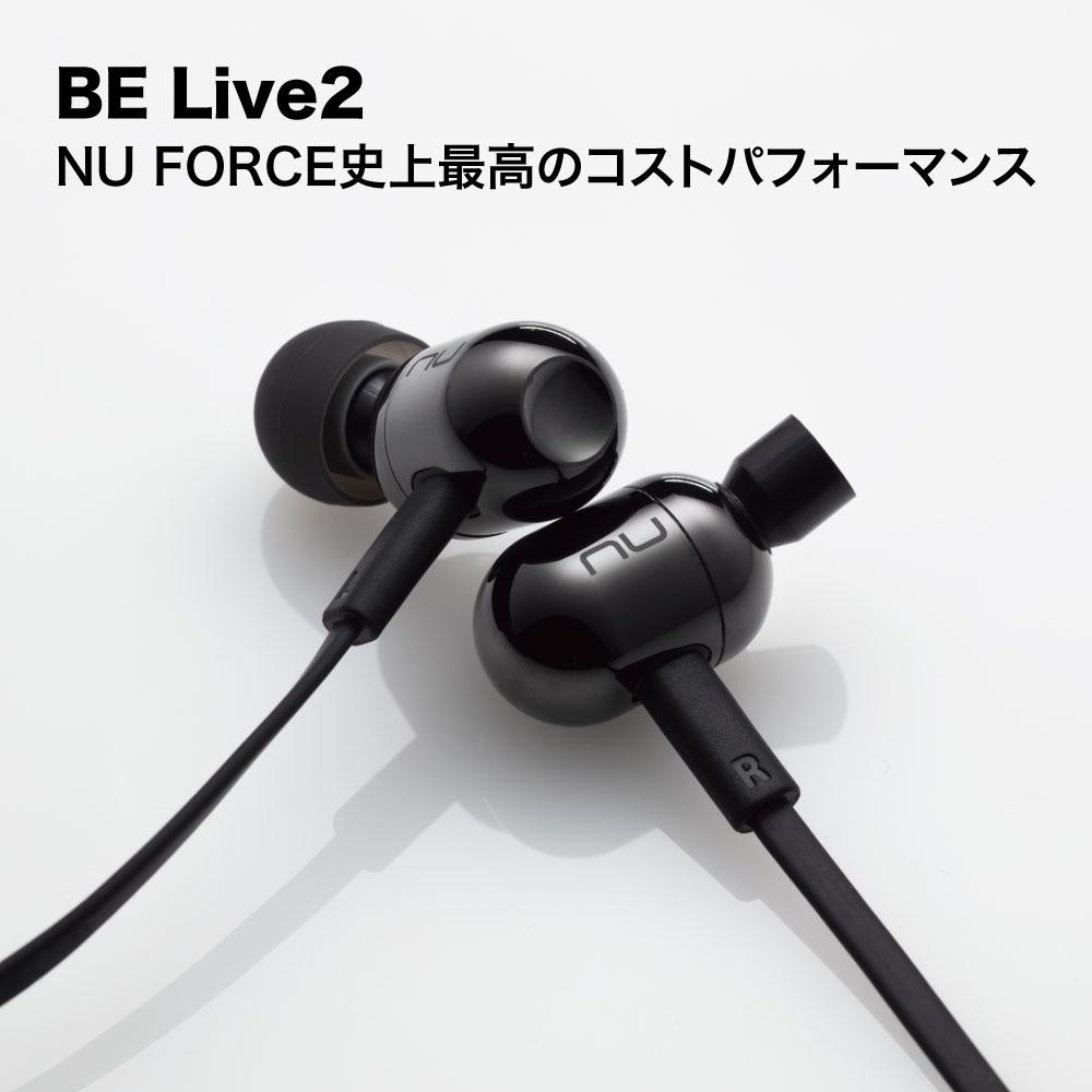 NU FORCE BE Live2 BK 黒 ワイヤレスイヤホン bluetooth イヤホン 防水 iphone android 対応 aac (メーカー1年保証) ランニング nuforce belive5