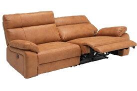開梱設置 電動モーションソファー ソファ ワイド2人掛け 電動リクライニングソファー リクライニングソファー 撥水 キャメル色