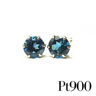 プラチナ ピアス Pt900 ロンドンブルートパーズ ピアス 4mm【11月誕生石】【Platinum Pierce】【送料無料】※pema
