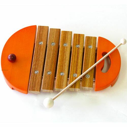 【楽器玩具】木琴 BorneLund(ボーネルンド)社 楽器玩具 ベビーシロフォン オレンジ 木のおもちゃ お誕生日 1歳:男 お誕生日 1歳:女【節句 入園 卒園 入学】【P】