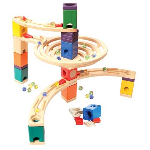 【木のおもちゃ】【知育玩具 スロープ】ボーネルンド Hape社 クアドリラ ベーシックセット 誕生日 4歳【P】