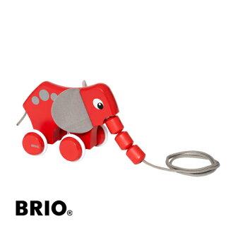 【木のおもちゃ】ブリオ/BRIOプルトイエレファント木のおもちゃお誕生日