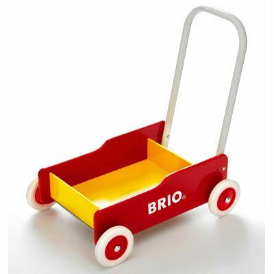 【木のおもちゃ】ままごと ブリオ/BRIO 歩行器 手押し車(赤) 木のおもちゃ お誕生日 1歳:女【Y】