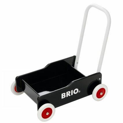 【木のおもちゃ】知育玩具 ブリオ/BRIO 歩行器 手押し車(黒) 木のおもちゃ お誕生日 1歳:男【Y】