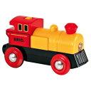 【木のおもちゃ】ブリオ/BRIO 木製レール バッテリーパワー機関車(黄色) 木のおもちゃ【節句 入園卒園 入学卒業 子供】【c】【】