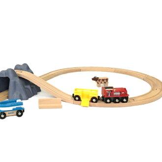 【木のおもちゃ】知育玩具ブリオ木製レールサマートラベルセット(数量限定品)プラケース入り【入園入学】
