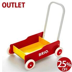 25%OFF アウトレット品 期間限定 ブリオ/BRIO 歩行器 手押し車(赤) 木のおもちゃ お誕生日 1歳:女 FSC認証 おうち時間 子供
