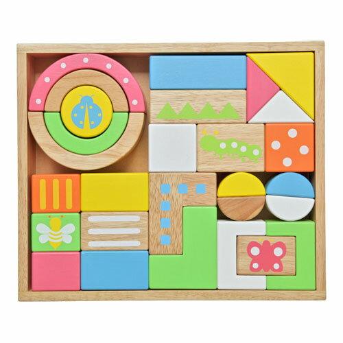 【木のおもちゃ】積み木 出産祝い エデュテ LABY SOUNDブロックスLarge28ピース知育玩具【P】