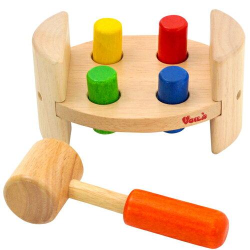 【木のおもちゃ】 【ハンマートイ】 ボイラ ハンマーロールたたくおもちゃ【autumn_D1810】【kd】