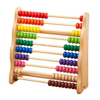 エトボイラ知育玩具レインボーアバカス(そろばん白木大)