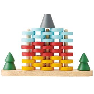 木のおもちゃ知育玩具エドインター森のリングタワー誕生日1歳半北欧男女おうち時間クリスマスプレゼント子供
