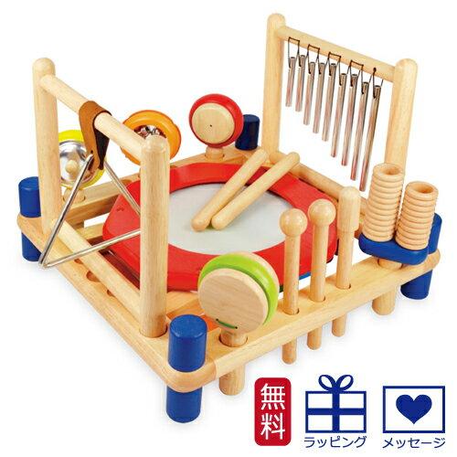 【木のおもちゃ】【木製玩具 知育玩具 型はめ  出産祝い】 I'm TOY アイムトイ 音楽 ミュージックステーション 木のおもちゃ お誕生日 2歳:男 女【P】