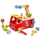 【木のおもちゃ 知育玩具】 型はめ I'm TOY アイムトイ アクティブ消防車 出産祝い 木の玩具 お誕生日 2歳:男【クリスマスプレゼント 子供】【c】【】