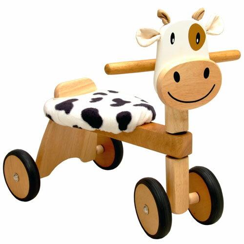 【木のおもちゃ 出産祝い】I'm TOY アイムトイ 木製乗用玩具 モーモーバイク 木のおもちゃ お誕生日 1歳【P】
