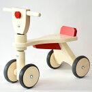 レディーバード社木製四輪車キッズウォーカー赤木のおもちゃ出産祝いお誕生日1歳:男お誕生日1歳:女