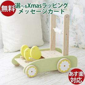 木のおもちゃ 車 ニチガン カタカタ 手押し車 おさんぽpipi(おさんぽピピ) 木のおもちゃ お誕生日 知育玩具 1歳 おうち時間 クリスマス プレゼント 子供