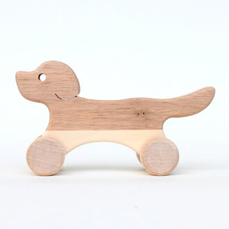 Oak village, Oak Village plain and unpainted wooden toys dogs & parent 1: 1-year-old man: woman