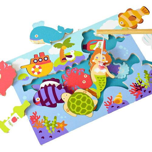 【知育玩具】木製パズル エコ・フィッシング パパジーノ ギフト 孫の日 【お祝い】 子供【kd】