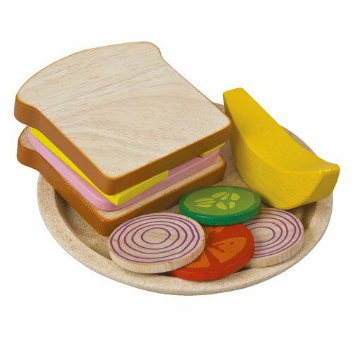 【木のおもちゃ】【木のおもちゃ】プラントイの木のおもちゃ Plantoys サンドイッチセット ごっこ遊び・ままごと お誕生日 3歳:女 【節句 入園 卒園 入学】【P】