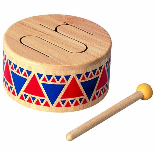 知育玩具 Plantoys 音楽 ソリッドドラム グッド・トイ2015 【木のおもちゃ】プラントイの木のおもちゃ お誕生日 1歳:男 お誕生日 1歳:女【P】