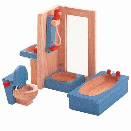 【木のおもちゃ】プラントイのドールハウス Plantoys カラーバスルーム お誕生日 3歳:女 【節句 入園 卒園 入学】【P】