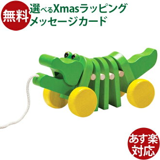 【木のおもちゃ】プラントイプルトイ&プッシュトイダンシングアリゲーター