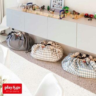 【お片付けプレイマット】play&goプレイアンドゴーダイヤモンドグレイ【おもちゃ箱】【収納袋】