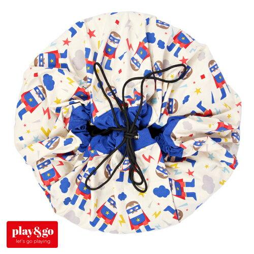 【お片付け プレイマット】play&go プレイアンドゴー デザイナーコラボ スーパーヒーロー【おもちゃ箱 収納袋】【kd】