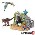 【恐竜フィギュア】schleichシュライヒ恐竜と洞窟セット【ごっこ遊び】【c】【】