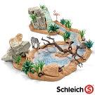 【動物フィギュア】schleichシュライヒ水飲み場での大冒険!サバンナ・ビッグセット【012723】【ごっこ遊び】【節句入園卒園入学】【Y】