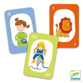 DJECO ジェコ プエット!プエット! おもちゃ 知育玩具 海外 こども 男の子 女の子 5歳以上 おすすめ プレゼント ギフト 誕生日 ボードゲーム カードゲーム 音まね ジェスチャー おうち時間 ラッピング