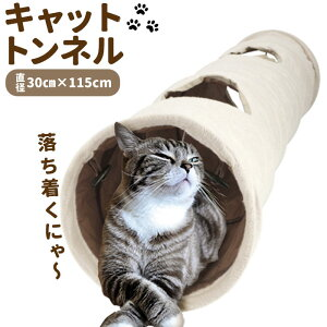 猫 おもちゃ トンネル 楽天 おしゃれ ペット プレイトンネル ネコ 一人遊び ねこ 玩具 キャットトンネル 2穴付き コンパクト 収納 折りたたみ 120 cm 折畳み式 可愛い 運動不足 誘い玉付き イン