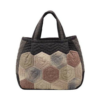 남 쿠미코 데자인오림파스팟치워크킷트하트헤키사곤의 가방