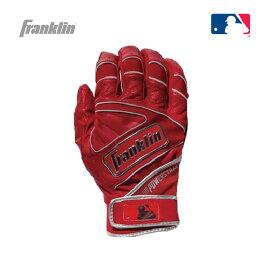 【送料無料】野球用バッティンググローブ バッティング手袋 打撃用手袋 両手用 レッド 赤 Franklin フランクリン POWERSTRAPCHROME パワーストラップ 20493