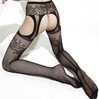 TRASPARENZE(torasuparentsue)FIORDALISO網脫衣舞內褲(吊帶網緊身服)黑